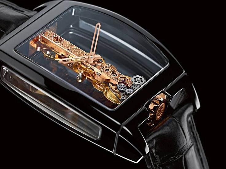 Corum Golden Bridge Black Ceramic Watch