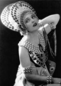 Costume for Carmel Myers in Ben-Hur designed by Erté, 1925