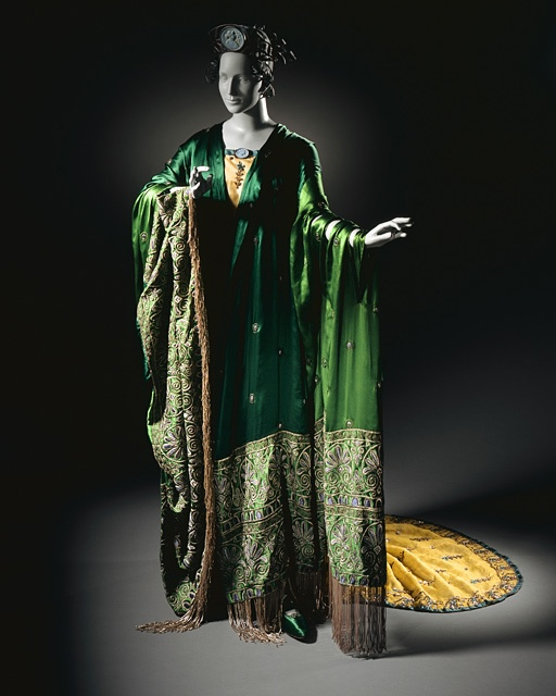 Erté (Romain de Tirtoff), Costume for Ganna Walska as Floria Tosca in 'Tosca', Act II; Woman's Gown with Shawl and Crown, 1920.