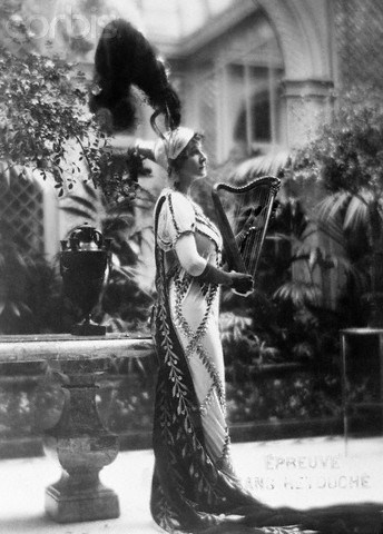 "ca. 1925, Paris, France --- Ganna Walska as ""Princess Borghese.""  Paris, France:  Above is pictured Ganna Walska, operatic star and in private life Mrs. Harold F. McCormick, in the costume she wore as Princess Borghese, sister of Napoleon when she attended the recent Grand Prix Ball at the Paris opera. --- Image by © Bettmann/CORBIS"